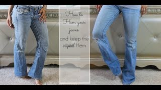 How To Hem Jeans And Keep The Original Hem