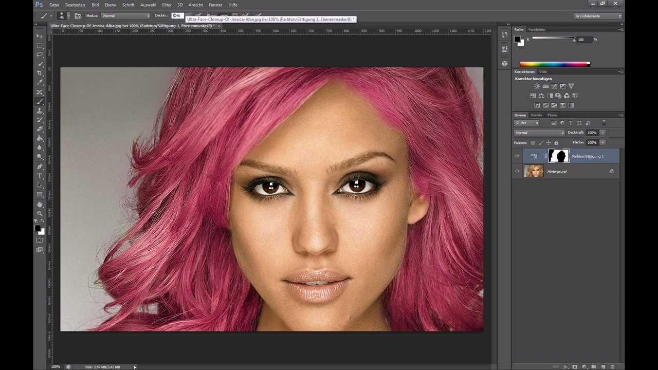 Haare färben – Photoshop-Tutorial