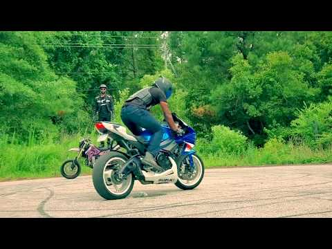 Supermoto and GSXR Sunday Funday Rolling Burnouts and Drifting