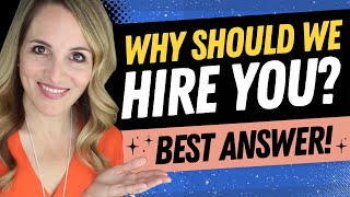Why Should We Hire You Interview Question - BEST Sample Answer
