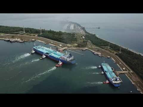Begini pelabuhan PT. Arun di Aceh sekarang [] Dji Mavic 1 Pro