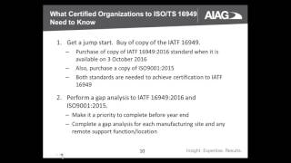 IATF 16949 Transition Series Part I