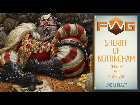 Sheriff of Nottingham | Live @ PlayIT (Mazur, HP, Győri Zoli) - Fun With Geeks