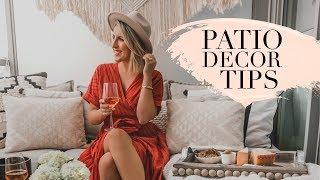PATIO DECORATING TIPS | STEPH STERJOVSKI
