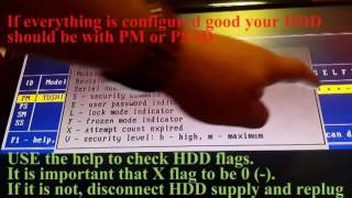 SATA HDD UNLOCK ATA PASSWORD TUTORIAL