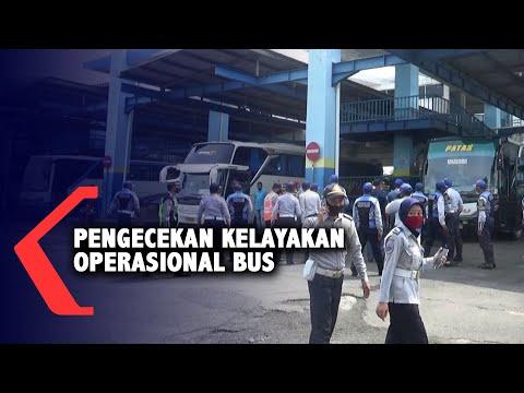 jelang libur panjang pengecekan kelayakan operasional bus dilakukan