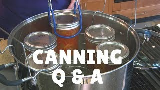 Canning Tips Q & A