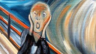 How to paint THE SCREAM by EVARD MUNCH BEGINNER Acrylic tutorial | TheArtSherpa