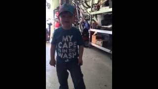 3 year old sings Beatles Happy Birthday song