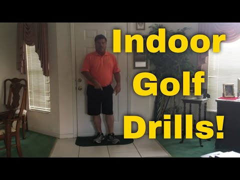 Indoor Golf Drills - One Leg Balance Drill