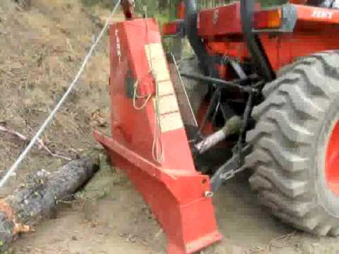 Farmi winch blade for tractor logging