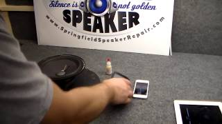 How to Use Smartphone or iPad to Center Speaker Voice Coil - Easy