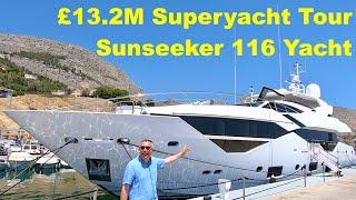 £13.2M Superyacht Tour : Sunseeker 116 Yacht