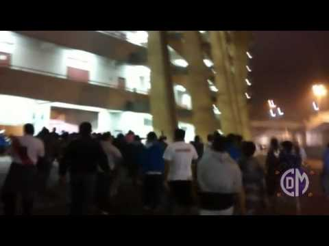 """Franja Norte 001: Deportivo Municipal vs Universitario (04/07/15)"" Barra: La Banda del Basurero • Club: Deportivo Municipal"