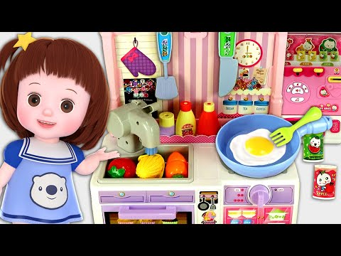 Baby Doli and drinks vending machine kitchen cooking baby doll toys story