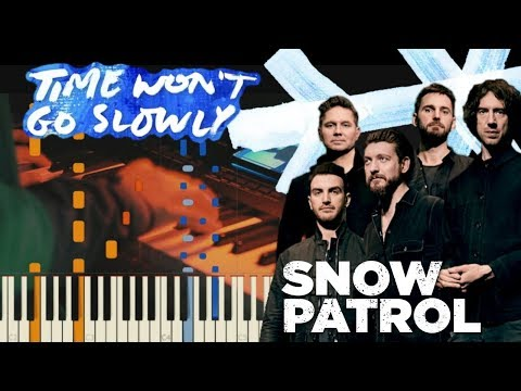 Snow Patrol - Time Won't Go Slowly | Piano Tutorial Synthesia + Cover Video