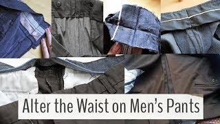 How to Alter Your Trouser Waistband|  How to expanding a waistline on mens dress pants
