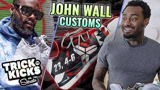 """""""These Are FIRE!"""" John Wall Gets Custom KOBES From #1 Sneaker Designer On Earth! How They Were Made"""