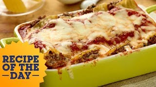 Recipe Of The Day: Giadas Beef And Cheese Manicotti | Food Network