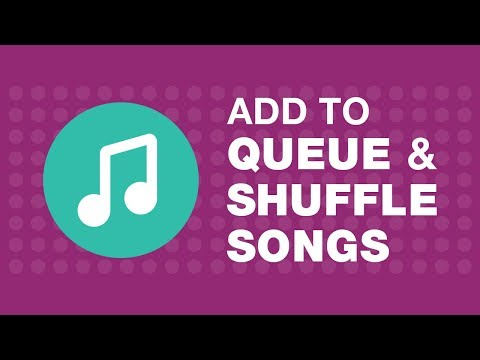How to add and shuffle songs in player queue in JioMusic?