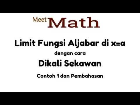 Limit Fungsi Trigonometri - Contoh 1