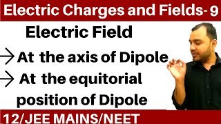 Electric Charges and Fields 09 | Electric Dipole - Electric Field on axis and Perpendicular Bisector