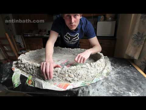 Making a miniature stone wall