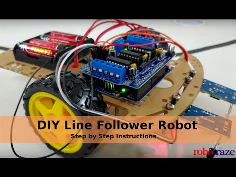 Robocraze Diy Line Follower Kit with Manual