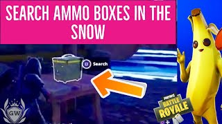 Search AMMO BOXES in the Snow Biome Locations! WEEK 3 CHALLENGES FORTNITE SEASON 8!