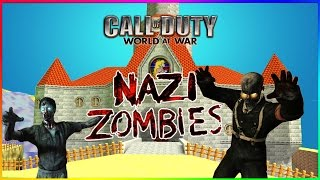 SUPER MARIO ZOMBIES! (Call Of Duty WaW Zombies Custom Maps, Mods, & Funny Moments)