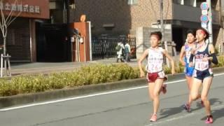 第28回全国高校女子駅伝/1区・5区西大路を駆け抜ける選手たち2016.12.25
