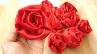 Very Easy And Beautiful Satin Fabric Flower Tutorial