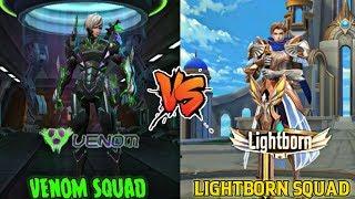 MOBILE LEGENDS VENOM SQUAD VS LIGHTBORN SQUAD • VENOM VS LIGHTBORN SIDE BY SIDE COMPARISION