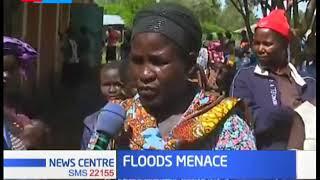River Nyando bursts its banks rendering several people homeless in Kisumu county
