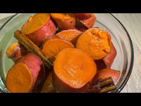 HOW TO MAKE CANDIED YAMS | CAMOTES ENMIELADOS |