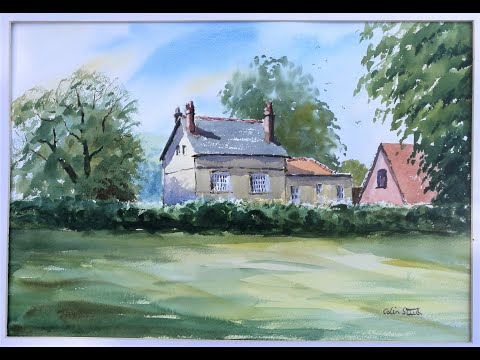 Thumbnail of Byron Hall, Galleywood Common. Watercolour demonstration video.