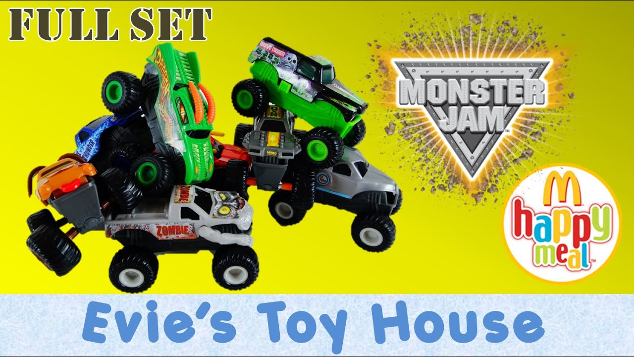 2015 Monster Jam McDonalds Happy Meal Toys Complete Set | Evies Toy House
