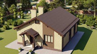 Проект дома 089-B, Площадь дома: 89 м2, Размер дома:  12,2x10 м