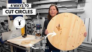 4 Ways to Cut Circles in Wood // DIY Circle Cutting Jigs
