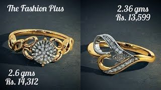 Bluestone Gold Rings Designs With WEIGHT And PRICE|Under 15,000 Rings By Bluestone