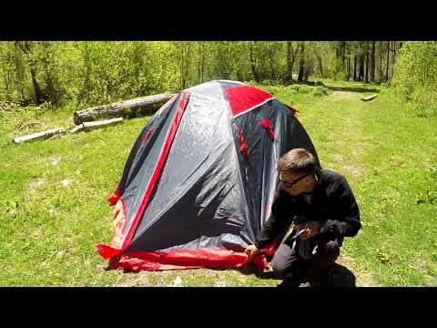 Смотреть видео Палатка Tramp Peak 3 v2