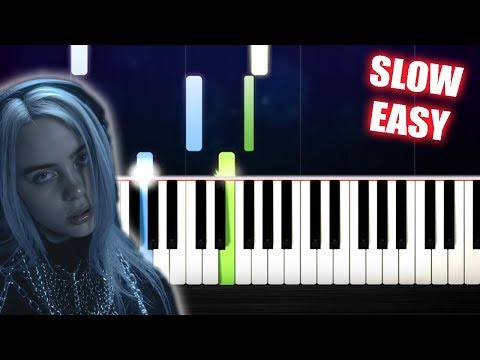 Billie Eilish - lovely (with Khalid) - SLOW EASY Piano Tutorial by PlutaX