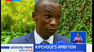 Kenyan marathoner Eliud Kipchoge seeks to break the under 2 barrier