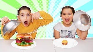 Mini Squishy Food VS Real Food Challenge!! | JKrew