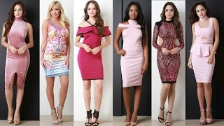 Women Pink Dresses For Cocktail Wedding Prom Evening Dance Eastern Party - Vestidos Color Rosa