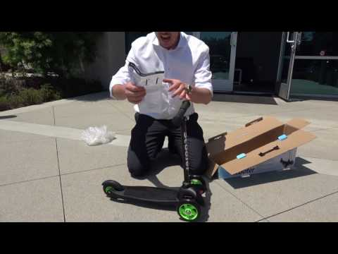 How to Setup & Ride-On 3-Wheel Scooter for Kids - Live Presentation by Tv Host Bill Confidence