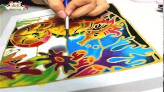 Gambar cover Batik Painting   How to Paint Seahorse with Batik Felt Frame