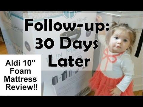 Aldi 10″ Foam Mattress Review Follow-up: 30 Days Later!!