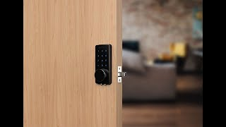 TTLock bluetooth smart deadbolt installing and testing - OS8815BLE