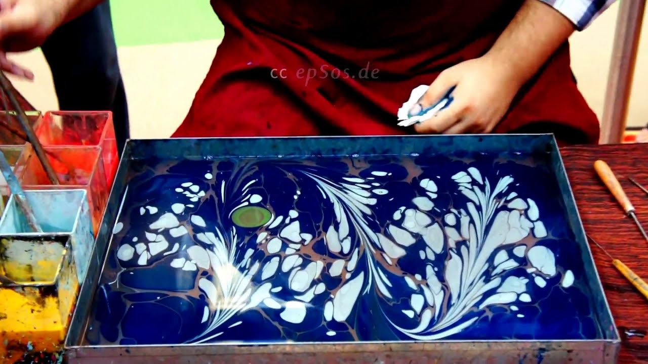 painting on water paper marble art by epsos